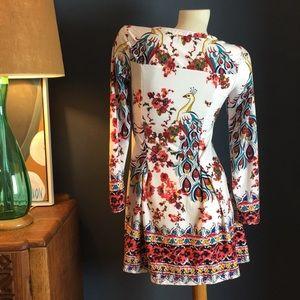 Reborn Dresses - Floral Peacock Dress